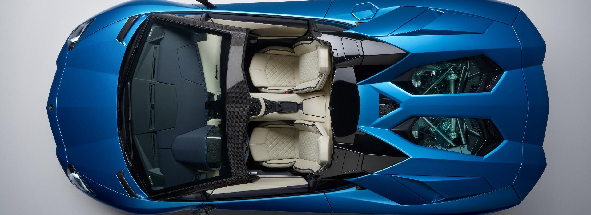 aventador s roadster lamborghini interieur
