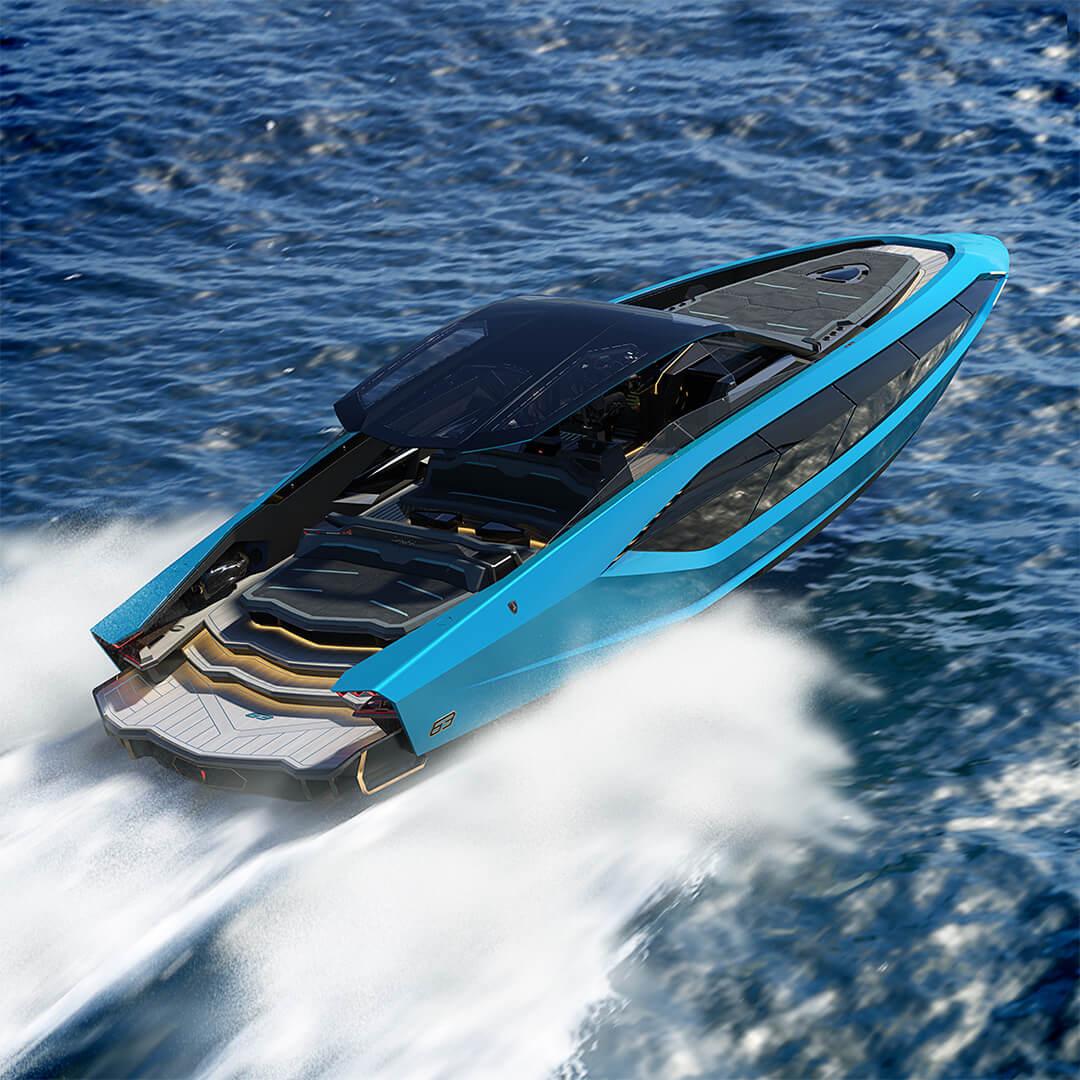 yacht lamborghini bleu