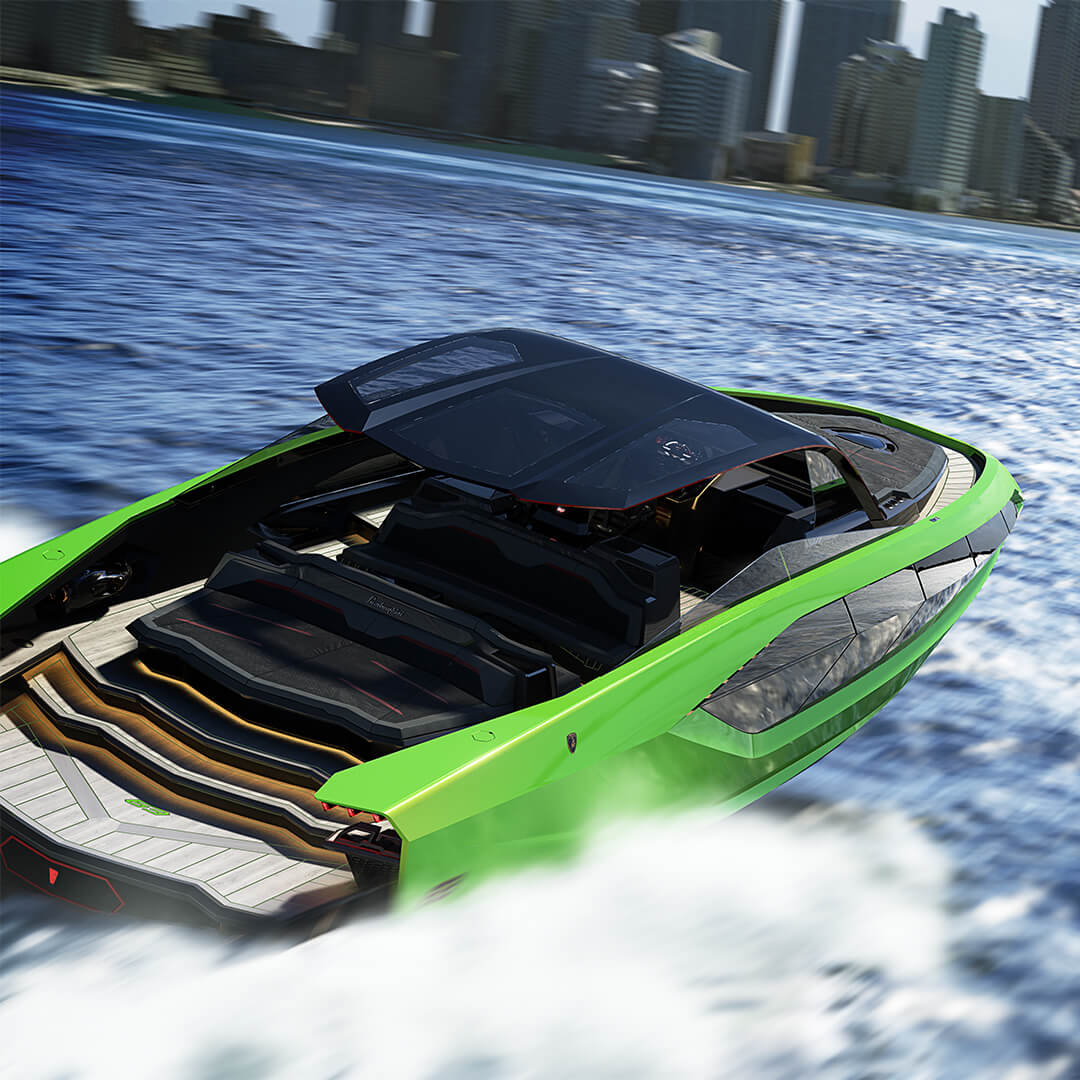 yacht lamborghini vert